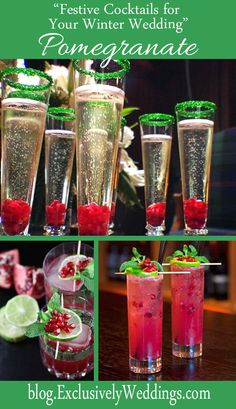 """""""Festive Cocktails for Your Winter Weddings"""" - Pomegranate - Read more: http://blog.exclusivelyweddings.com/2014/10/26/festive-cocktails-for-your-winter-wedding/"""