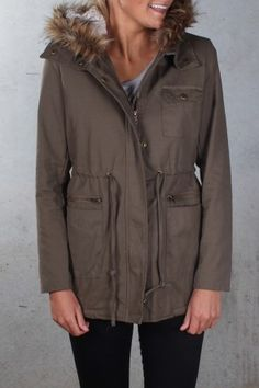Winter Blues Jacket Khaki $79.00 Shop ll http://www.jeanjail.com.au/winter-blues-jacket-khaki-1.html