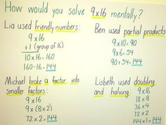 How would you solve 9x16 mentally?
