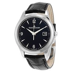 c456e54d1e5 Jaeger LeCoultre Master Control Automatic Black Dial Black Leather Mens  Watch Q1548470 Online Watch Store