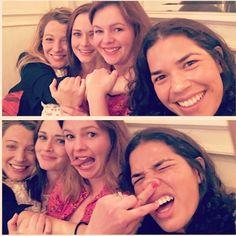 À l'international - Une autre adorable réunion des filles de Sisterhood of the Traveling Pants   HollywoodPQ.com
