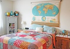 A New Headboard by Bedtime: 12 Unusual & Affordable DIY Headboard Ideas from Apartment Therapy!
