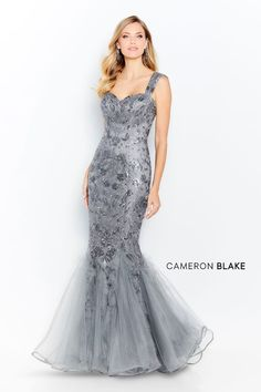 Cameron Blake by Mon Cheri - 120624 Sequined Sweetheart Mermaid Dress - Cameron Blake by Mon Cheri – 120624 Sequined Sweetheart Mermaid Dress - Sequin Gown, Embellished Dress, Cameron Blake, Mon Cheri Bridal, Mermaid Skirt, Formal Gowns, Formal Wear, Bridal Boutique, Fitted Bodice