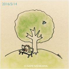   nami nishikawa Hedgehog Drawing, Hedgehog Art, Cute Hedgehog, Hedgehog Illustration, Illustration Art, Creation Art, Bullet Journal Art, Cute Doodles, Hedgehogs