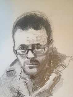 Pencil Drawing. Frankie Boyle