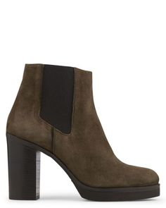 Boots en CHEVRE VELOURS Kaki - Boots - Brivael - Minelli