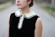 vintage dress collar. | via Tick Tock Vintage.