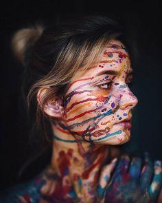 Most Amazing Female Portrait Photography Paint Photography, Creative Portrait Photography, Tumblr Photography, Artistic Photography, Photography Poses, Photography Hashtags, Female Photography, Photographie Art Corps, Kreative Portraits