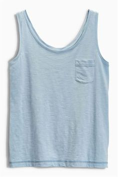 Light Blue Slub Vest