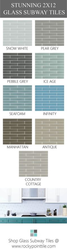 Check out well rounded collection of 2x12 Glass Subway Tiles available in a well thought selection of smart colours for the home!