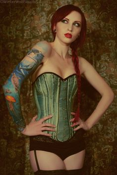 Spoon busk corded corset by JanesCorsets on Etsy, $450.00