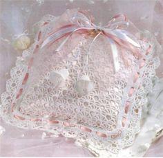 Ring Bearer's Pillow Thread Crochet Pattern   eBay