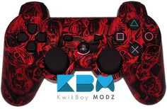 Reverse Red Zombies DualShock 3 PS3 Controller - KwikBoy Modz  #customcontroller #customps3controller #moddedcontroller #zombies #zombie #ps3 #ps3controller