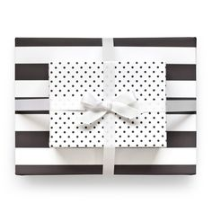 Reversible Wrapping Paper Black//