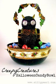 The Silly Pearl - Creepy Creatures Halloween Candy Bowl