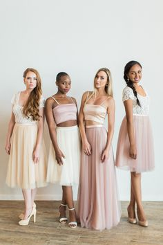 Stunning Bridesmaids Dresses and Evening Wear. Designed to be worn again & again. Lola Wilde, bringing back the charm to the bridesmaids experience. Two Piece Bridesmaid Dresses, Bridesmaid Tops, Wedding Dresses, Bridesmaid Inspiration, New Romantics, Tulle, Feminine, Skirts, How To Wear