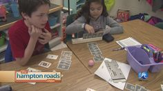 Teaching young students the card game Bridge.