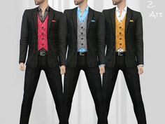 Smart Fashion IX suit by Zuckerschnute20 at TSR via Sims 4 Updates