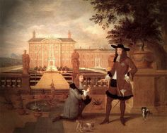 The History of Pineapple. A painting by Hendrik Danckerts from 1675 showing Charles II being given the first pineapple grown in England by his royal gardener, John Rose. King Charles Spaniel, Cavalier King Charles, Rei Charles, Charles Ii Of England, John Rose, Oil Painting Reproductions, Book Of Life, 17th Century, Pineapple