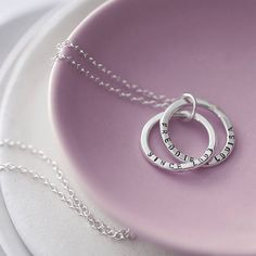 personalised interlinking names necklace by posh totty designs boutique   notonthehighstreet.com