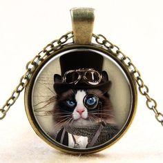 Monocle Cat Necklace