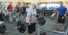 78-year-old grandmother deadlifts 245lbs at the gym