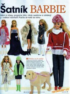 Při šití na panenku Barbie se mi jako základ osvědčily tyto střihy, které vyšly před několika lety v...