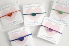 heart knot friendship bracelet valentines