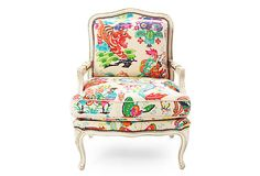 Li Bai Bergère on OneKingsLane.com  This is just fun.  Can't imagine WHERE i would use such a chair though.