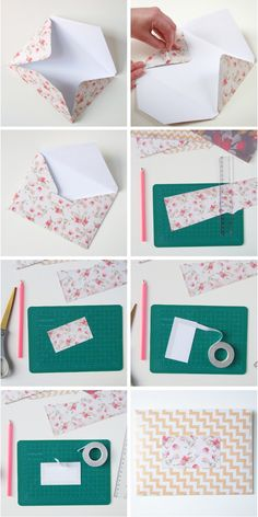 How to make your own diy envelopes using scrapbook paper.