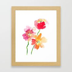 Buy Dancing Poppies Framed Art Print by susanbrand. Worldwide shipping available at Society6.com. Just one of millions of high quality products available.
