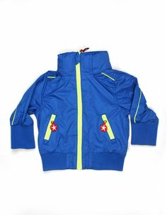 Blauwe korte zomerjas voor baby's - Kik*Kid