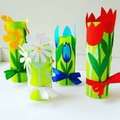 Diy And Crafts, Crafts For Kids, Arts And Crafts, Paper Crafts, Sunflower Crafts, Paper Magic, Preschool Learning Activities, Paper Snowflakes, Mothers Day Crafts