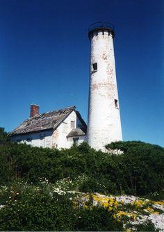 Image Detail for - Abandoned lighthouse on Poverty Island inGreen Bay, Lake Michigan