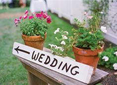 Handwritten wedding signage
