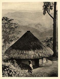 Kinga hut, Kipengere Range, Livingstone Mountains, Tanzania, 1930.