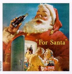 By using Santa as a propaganda coca cola was able to persuade its audience to buy their product over Christmas.