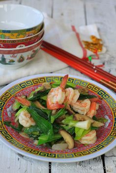 Eat Your Heart Out: Recipe: Stir fried leeks with Chinese mushrooms and king prawns (CNY Cooking)