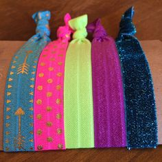 Items similar to Hair Tie Bracelets: Eva / Creaseless Hair Ties on Etsy Green And Purple, Pink And Gold, Hair Tie Bracelet, Bracelets, Creaseless Hair Ties, Color Tag, Blue Sparkles, Glitz And Glam, Coordinating Colors