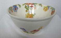 Harker pottery | Hotoven Harker Pottery Medium Serving Bowl Vintage Floral Design Rare ...