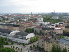 Overlooking the city from Helsinki Olympic Stadium