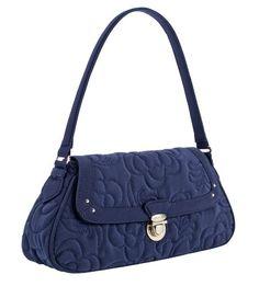 3226e97989f9 Vera Bradley Petite Shoulder Bag in Navy Microfiber Vera Bradley