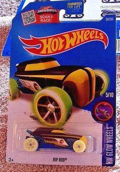 Hotwheels HW Glow Wheels RIP ROD #5/10 - 2015 Mattel - New #Mattel #RipRod