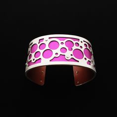 Handmade from sterling silver and anodized aluminum. #ilovegogojewelry #bubbles #cuff
