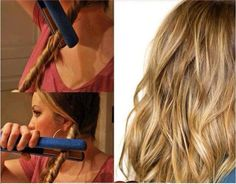 """"""" A great and easy way to get wavy hair! Cute Simple Hairstyles, Twist Hairstyles, Curly Hair Styles, Natural Hair Styles, Pelo Natural, Natural Waves, Hair Arrange, My Hairstyle, Hair Dos"""