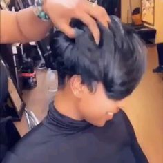 Beautiful hairstyles wigs for black women lace front wigs human hair wigs, etc. Cute Hairstyles For Short Hair, Short Hair Cuts, Wig Hairstyles, Curly Hair Styles, Natural Hair Styles, Short Natural Haircuts, Black Women Short Hairstyles, Natural Hair Weaves, Casual Hairstyles