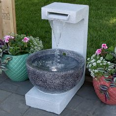 Purchase Sunnydaze Monterno Flowing Falls Outdoor Garden Water Fountain, 25 Inch Tall from Serenity Health & Home Decor on OpenSky. Garden Water Fountains, Water Garden, Contemporary Outdoor Fountains, Barrel Fountain, Cascade Water, Waterfall Fountain, Water Walls, Outdoor Flooring, Outdoor Gardens