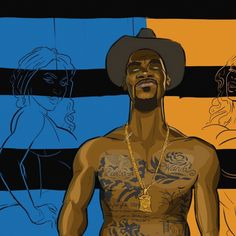 We have already seen OKC Thunder superstar forward Kevin Durant as a Lawyer, and now you get to see him as a the second coolest Cowboy next to Django. Durant Nba, Kevin Durant, Sports Page, Basketball Art, Thunder, All Star, Old School, Beast, Illustration Art