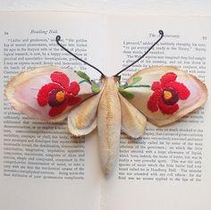 Moth brooch by Mister Finch (via Living Crafts Editor)