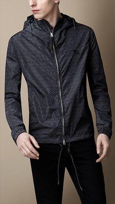 Geometric Print Hooded Jacket | Burberry